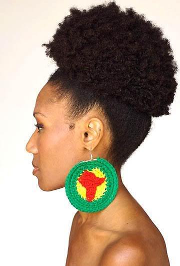 High ponytail Afro
