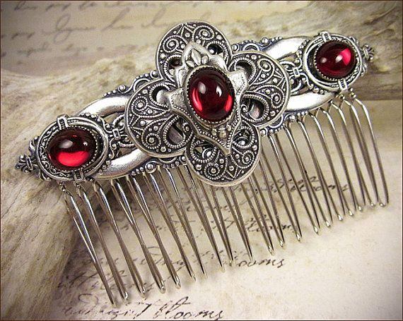 Jeweled hair combs