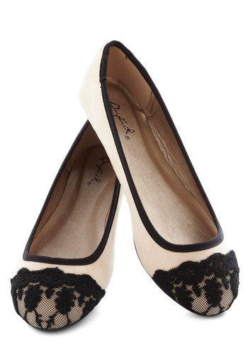 Lace toe flats