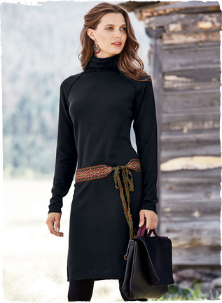 Long sleeve cotton dress