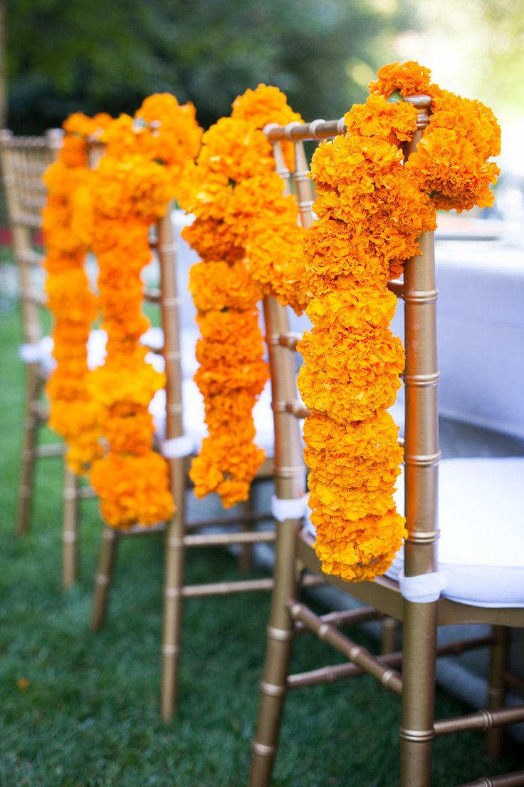 Marigold chair decor