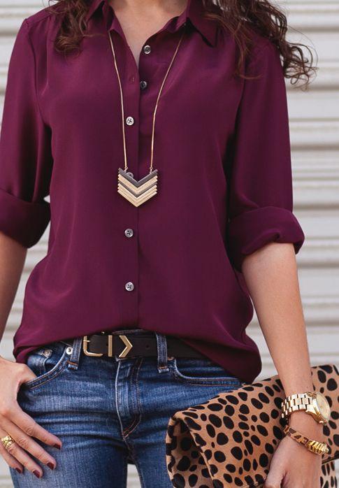 Marsala blouse