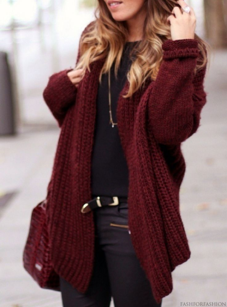 Marsala knit jacket