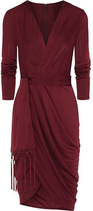 Marsala wrap dress