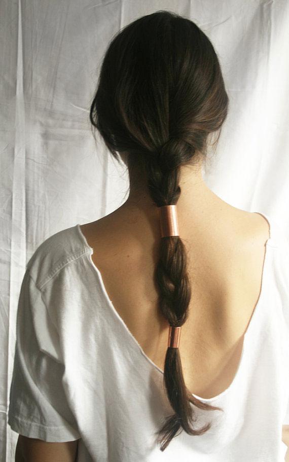 Metal ponytail ties