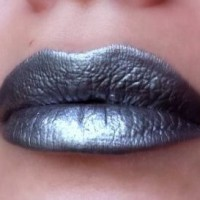 Metallic silver lips
