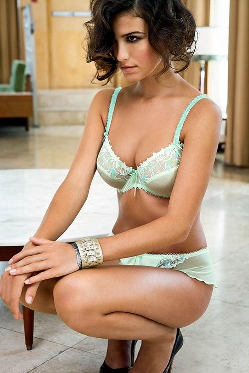 Mint green lingerie