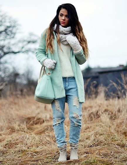 Mint green winter jacket