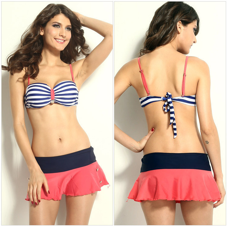 Nautical retro bathing suit