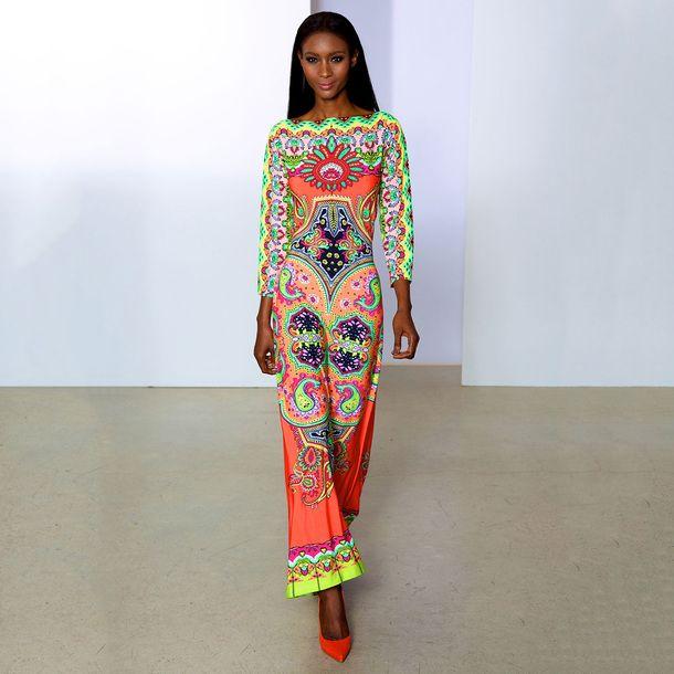 Neon Boho chic dress