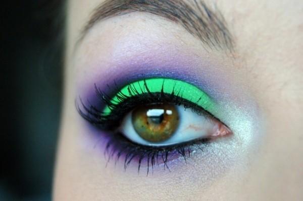 Neon eyeshadow