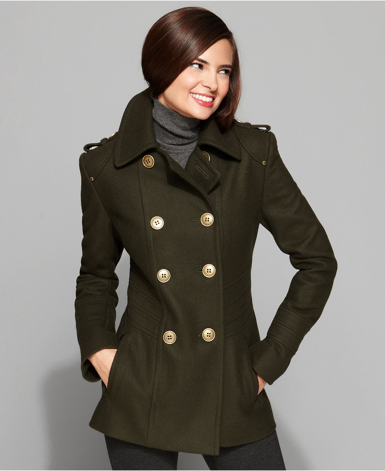 Women in coat