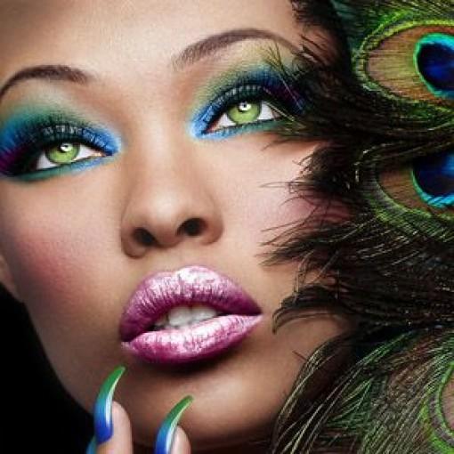 'Peacock' face