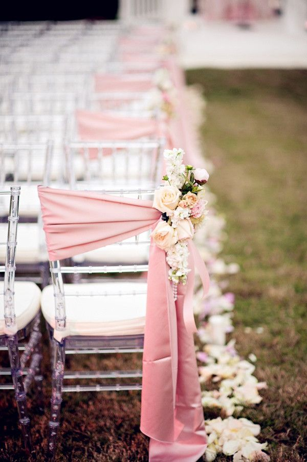 Pink chair decorations