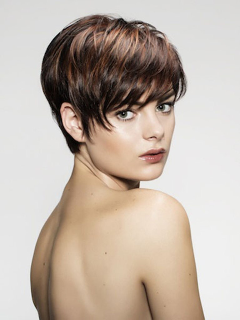 Fashion hairstyles 2015 - 13 Pixie With Brown Highlights