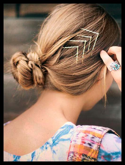 Plain bobby pins