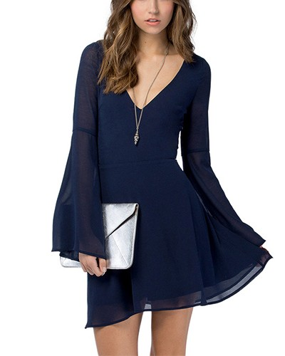 Reflecting pond bell sleeve dress