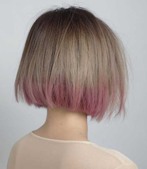 Ash Blonde and Pink Ombre