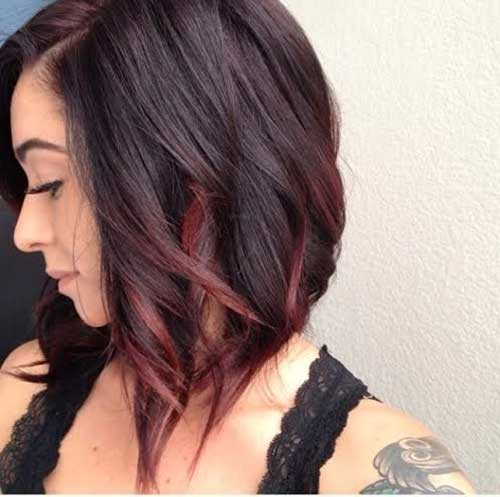 Brunette and Red Ombre