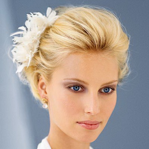 Short updo bride
