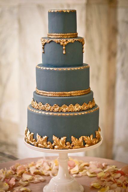 Slate wedding cake