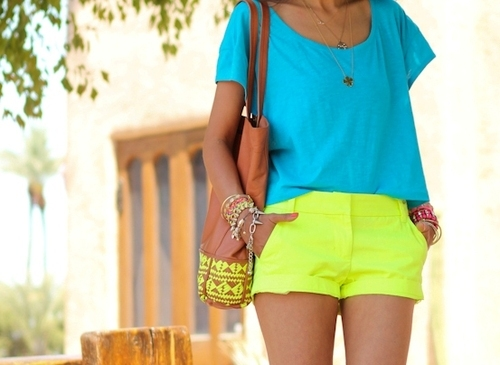 Some neon shorts