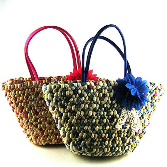 Straw purses