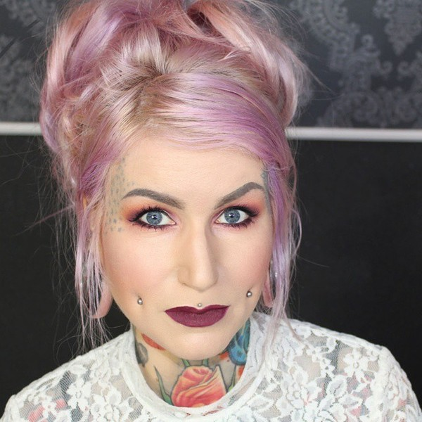 Stunning Pastel Pink and Purple Hair