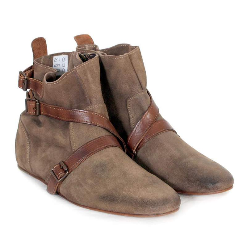 leather ankle boots women