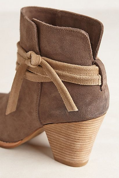 Suede side-tie booties