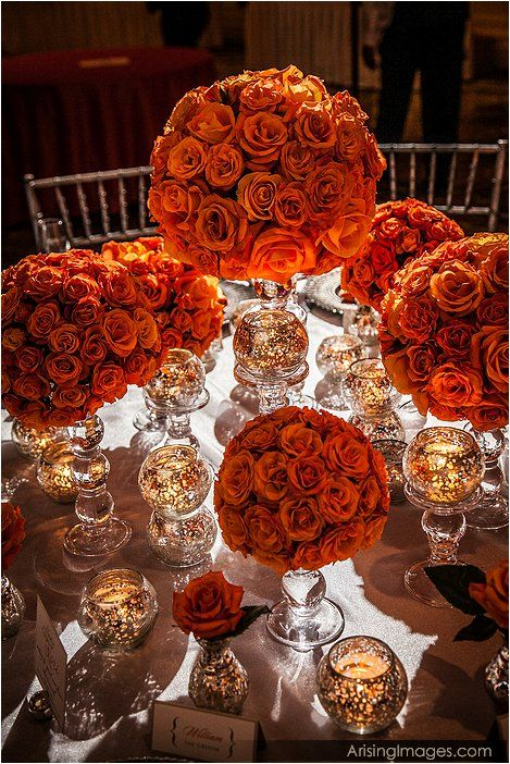 Tangerine table settings