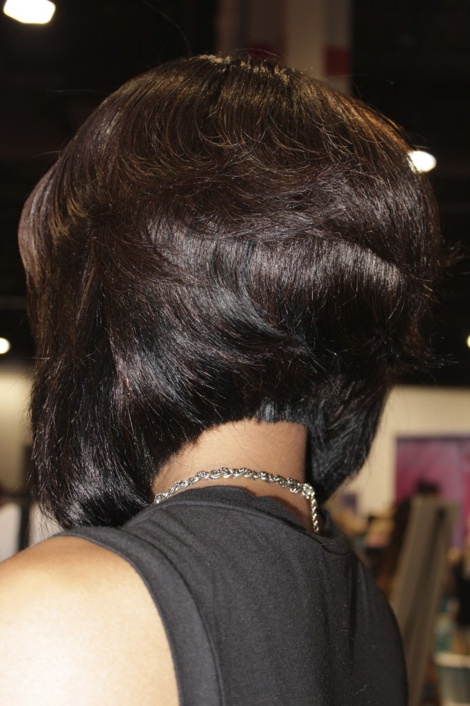 Tapered back bob