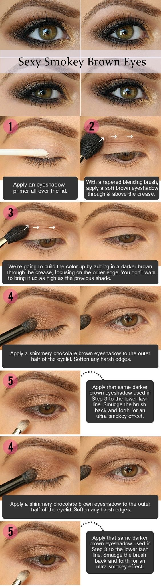 17 best light smoky eye makeup tutorials for summer styles weekly trendy brown smoky eye makeup tutorial baditri Image collections