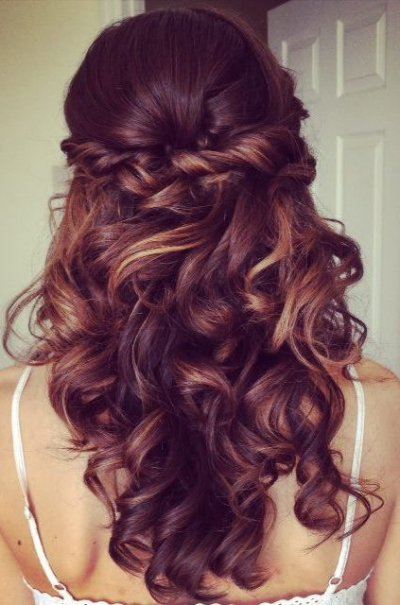 Twisted half updo