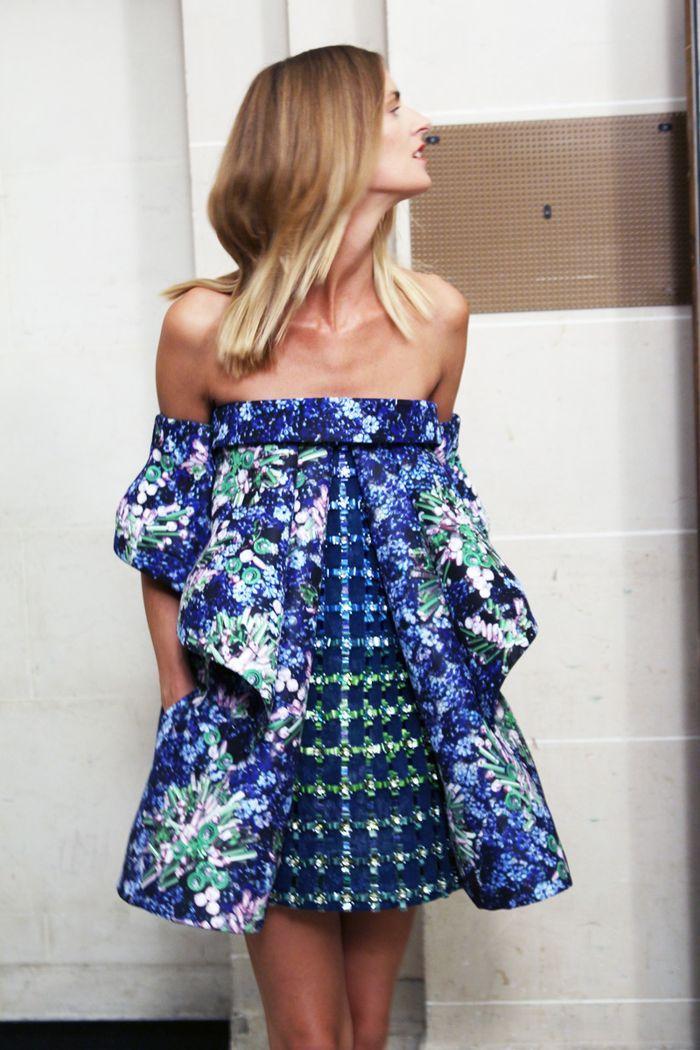 Two-pattern dress