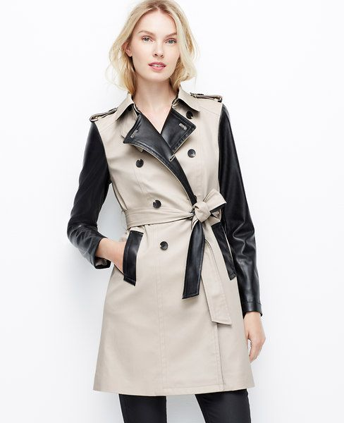 Two-toned trench coat