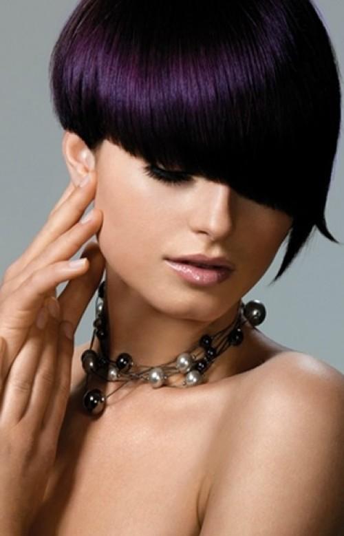 Violet bowl cut