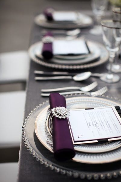 Violet place settings