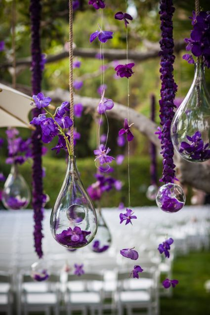 Violet tree hangings