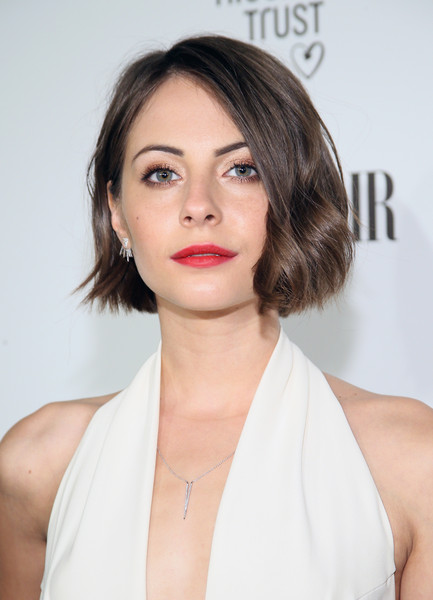 Willa Holland Brown Wavy Haircut