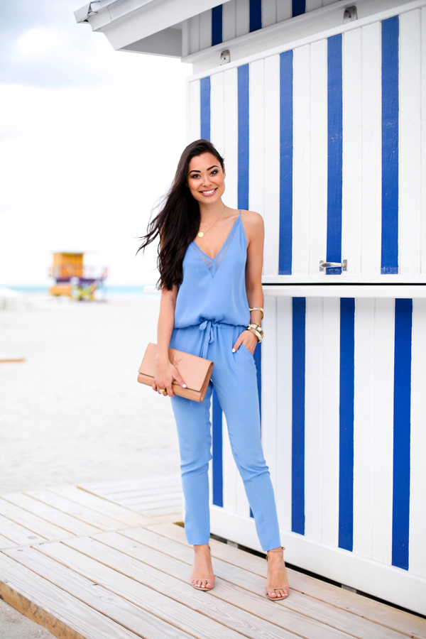 Stylish Blue Jumpsuit Outfit