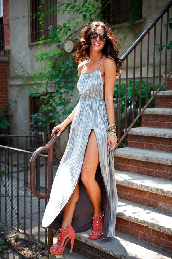 Stylish High Slit Sun Dress