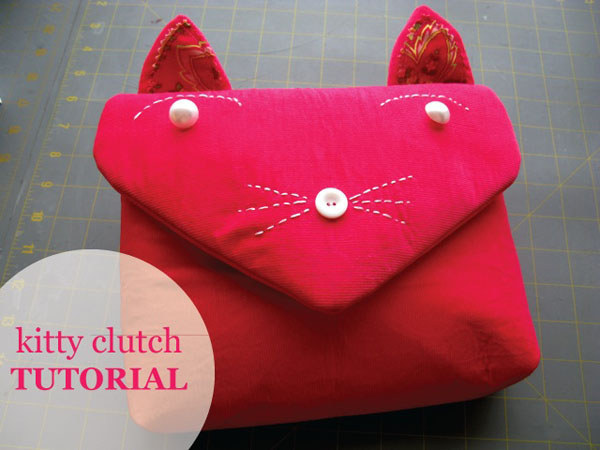Eye-Catching Cat Clutch