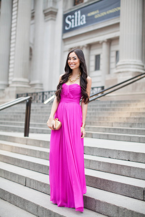 Fashionable Fuchsia Gown