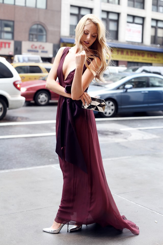 Stylish Maroon Dress