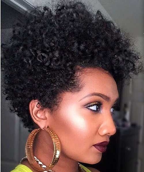 25 Cute Curly and Natural Short Hairstyles For Black Women ...