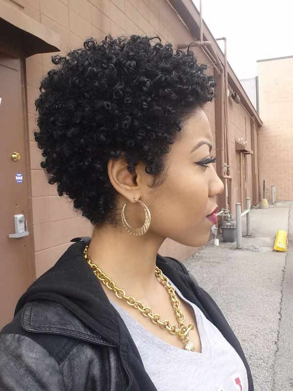 24 Cute Curly and Natural Short Hairstyles For Black Women ...