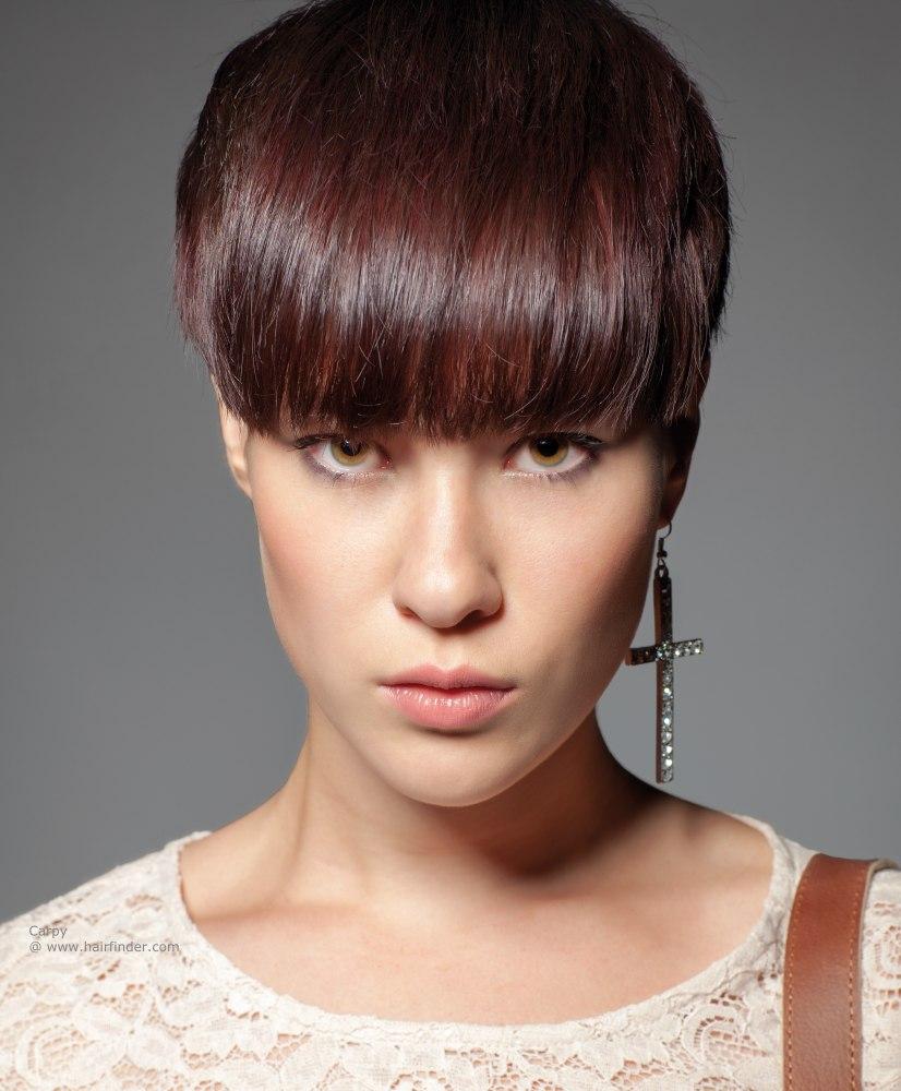 Pleasant 23 Cute Short Hairstyles With Bangs Styles Weekly Short Hairstyles Gunalazisus