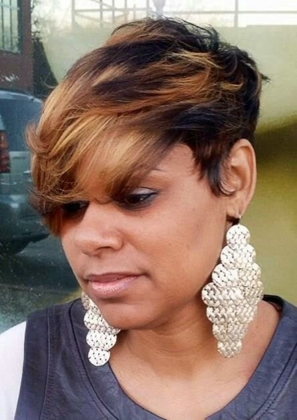 Long Hairstyles For Black Women With Bangs 98
