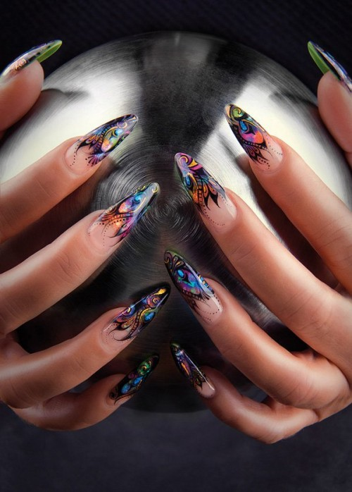 15 fashionable french tip nail designs styles weekly stylish stiletto nail design prinsesfo Image collections